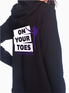 On Your Toes Custom Zip Up Hoodie