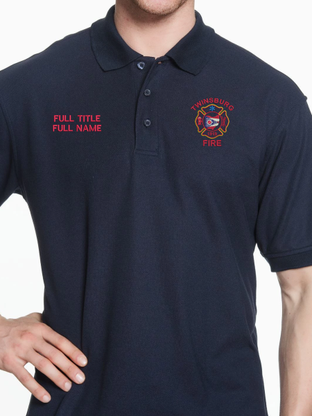 Twinsburg Fire Duty Stitched Tactical Polo