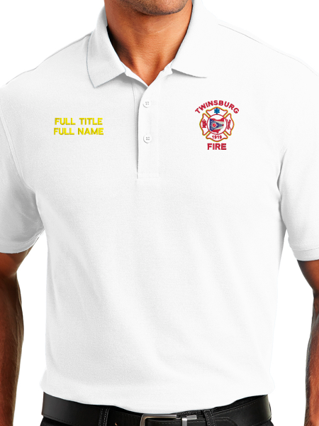 Twinsburg Fire Duty Stitched Tactical Polo - OFFICERS ONLY