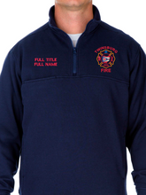 Load image into Gallery viewer, Twinsburg Fire Duty Stitched 1/4 Zip Job Shirt