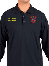 Load image into Gallery viewer, Twinsburg Fire Duty Stitched Tactical Long Sleeve Polo