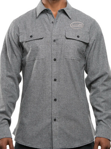 VMS Long Sleeve Solid Flannel Shirt