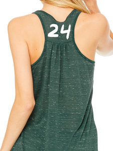 Nordonia Softball Hair Don't Care Flowy Racerback Tank