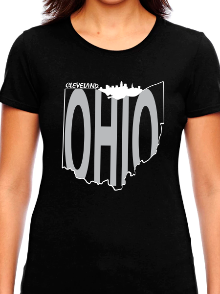Cleveland Ohio Skyline Women's T Shirt
