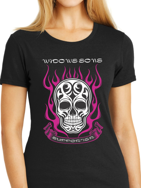 Women's Skull & Flames T Shirt