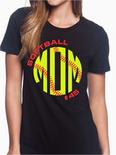 Load image into Gallery viewer, Nordonia Softball Mom Custom T Shirt
