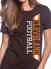 Load image into Gallery viewer, Cleveland Football Distressed Women's T Shirt