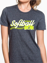 Load image into Gallery viewer, Nordonia Softball Mom Script Custom T Shirt