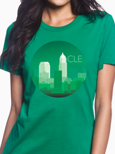 Load image into Gallery viewer, CLE Monochrome Skyline Women's T Shirt