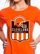 Load image into Gallery viewer, Cleveland Football Shield Women's T Shirt