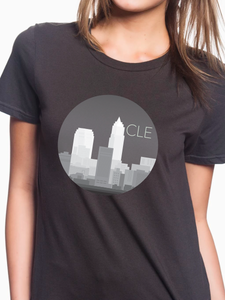 CLE Monochrome Skyline Women's T Shirt