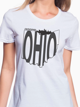 Load image into Gallery viewer, Cleveland Ohio Skyline Women's T Shirt