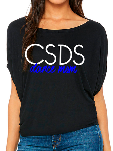 Center Stage Dance Mom Flowy Draped Dolman T