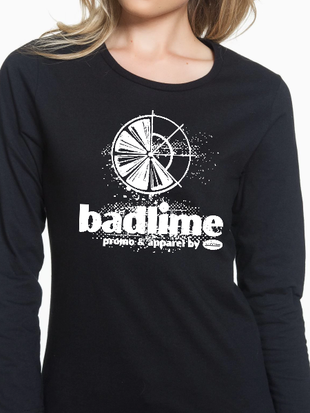 Badlime Distressed Women's Long Sleeve T Shirt