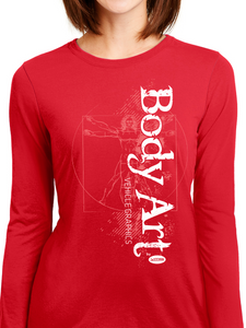 Body Art Sketch Women's Long Sleeve T Shirt