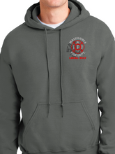 Load image into Gallery viewer, Macedonia Fire Dept Red Helmet Unisex Pullover Hoodie