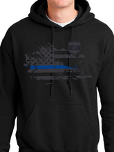 Load image into Gallery viewer, In Memory of Officer Miktarian Unisex Pullover Hooded Sweatshirt