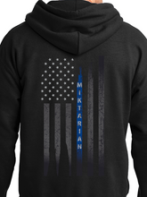 Load image into Gallery viewer, Officer Miktarian Flag Unisex Pullover Hooded Sweatshirt