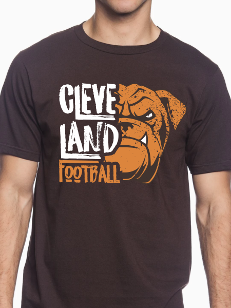Distressed Cleveland Football Icon Unisex T Shirt