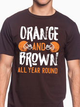 Load image into Gallery viewer, Orange & Brown Football Unisex T Shirt