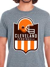 Load image into Gallery viewer, Cleveland Football Shield Unisex T Shirt