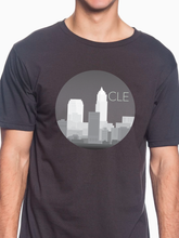 Load image into Gallery viewer, CLE Monochrome Skyline Unisex T Shirt