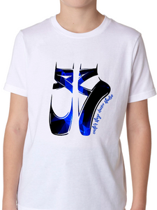 Center Stage Galaxy Ballet Shoes T Shirt