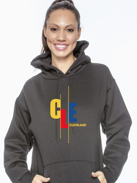 Unisex CLE Stagger Pullover Hoodie