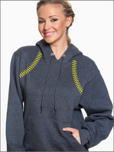 Load image into Gallery viewer, Nordonia Softball Stitching Pull Over Hoodie