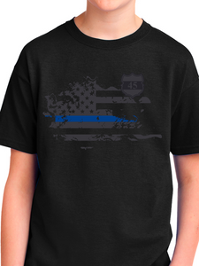 In Memory of Officer Miktarian Youth T Shirt