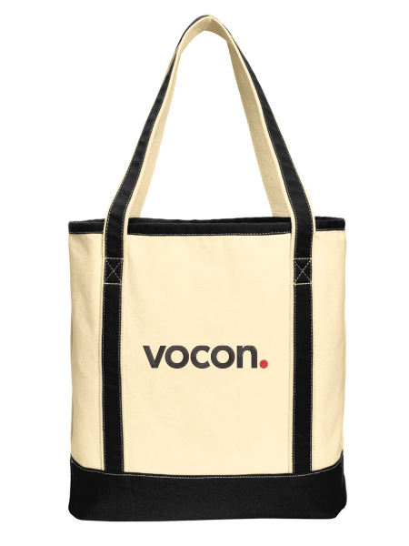 Vocon Large Cotton Canvas Boat Tote