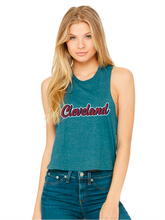 Load image into Gallery viewer, Women's Vintage Script Cropped Tank