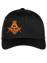 Load image into Gallery viewer, Widows Sons Skull & Compass Flexfit Hat - Black