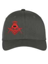 Load image into Gallery viewer, Widows Sons Skull & Compass Flexfit Hat - Dark Grey