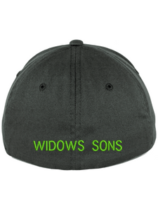 Widows Sons Skull & Compass Flexfit Hat - Dark Grey