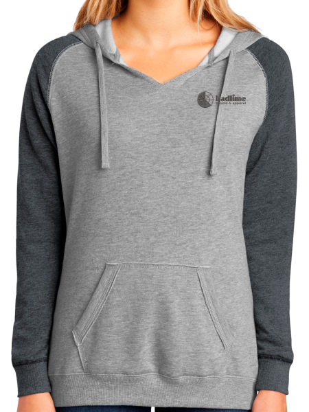 Badlime Women's Lightweight Fleece Raglan Pullover Hoodie