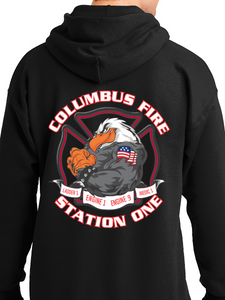 Columbus Fire - Eagle Banner Unisex Pullover Hoodie ENGINE