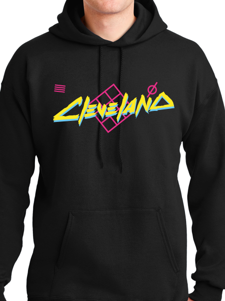 Cleveland 80s Vibe Unisex Pullover Hoodie
