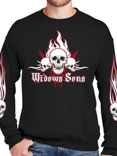 Load image into Gallery viewer, Passkeepers Flaming Skull Unisex Ultimate Crewneck Sweatshirt