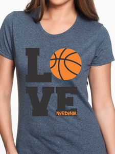 Custom Nordonia Love Basketball Women's T Shirt
