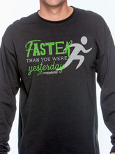 Load image into Gallery viewer, Run Faster Than You Were Yesterday Unisex Long Sleeve T Shirt