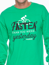 Load image into Gallery viewer, Bike Faster Than You Were Yesterday Unisex Long Sleeve T Shirt