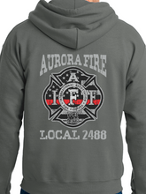 Load image into Gallery viewer, Aurora Fire Union / Fireman's Axe Unisex Hooded Sweatshirt