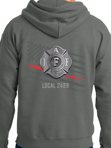 Aurora Fire Union / Flag & Badge Unisex Hooded Sweatshirt