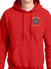 Load image into Gallery viewer, Aurora Fire Union / Flag Unisex Hooded Sweatshirt