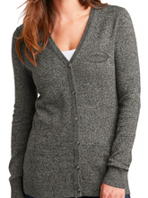 Load image into Gallery viewer, VMS Ladies Marled Cardigan Sweater