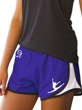 "Load image into Gallery viewer, Bourn Academy Girl's Velocity 3 1/2"" Running Shorts"