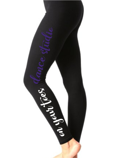On Your Toes Script Leggings