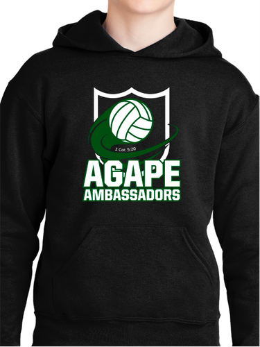 Agape Ambassadors Volleyball Youth Pullover Hoodie
