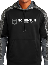Load image into Gallery viewer, Momentum Sport-Wick Mineral Freeze Fleece Colorblock Hooded Pullover